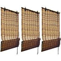 juego de 3 persianas estores plisables de bamb de alta calidad 120 x 160 - Estores De Bambu