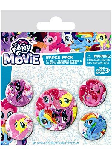 l My Little Pony Film (Freundschaft Blooms)–Badge 10x 12,5cm, mehrfarbig, 10x 12,5x 1,3cm (My Little Pony-geschenk-tasche)