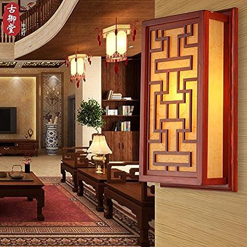 XiangMing Cinese classica vellum luci da parete soggiorno ristorante camere da letto studio corridoio di transito luci da parete