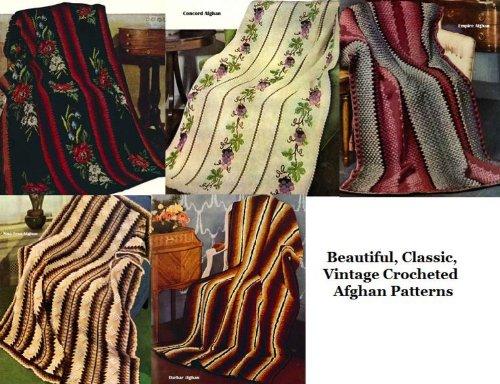 Schöne, klassische, Vintage gehäkelten afghanischen Muster