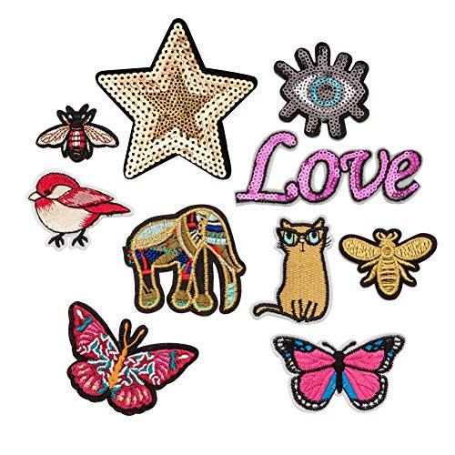 Express Ananas Kostüm - Iron On Patches Stickerei Applikation Patches Dekoration DIY Patch für Shirts, Jeans, Mützen, Blusen, Hosen, Röcke, Kleider