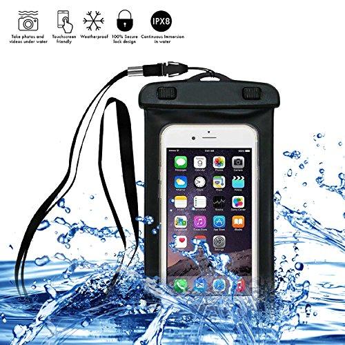 Housse étanche Universal COOSA Etui Coque Case Pochette pour Samsung/HTC/Sony/Nokia-Tous les téléphones/tablettes/iPods Sac étanche Waterproof Sac PVC Transparent Noctilucent inférieure à 5.8