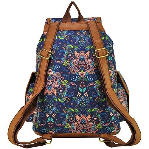 Mädchen-Damen-Freizeit-Rucksack Tier Printed Bag Reiserucksack 16#