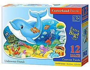 CASTORLAND Underwater Friends 12 Maxi pcs Contour Puzzle 12 Pieza(s) - Rompecabezas (Contour Puzzle, Dibujos, Preescolar, Niño/niña, 3 año(s), Interior)