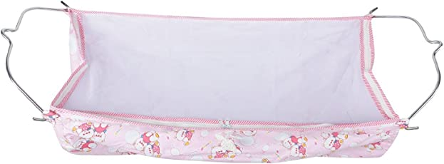MultiPro Soft Cloth Swing New Born Baby Cradle / Ghodiyu Hammock in Cool Cotton With Net, Pink