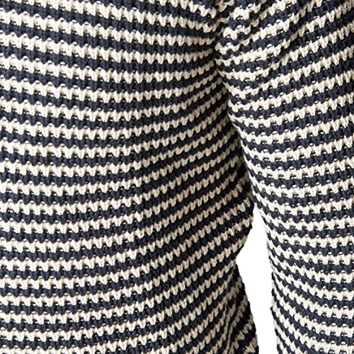 SUIT Herren Langarmshirt Condor Mehrfarbig (Navy/Off white stripe 4330)