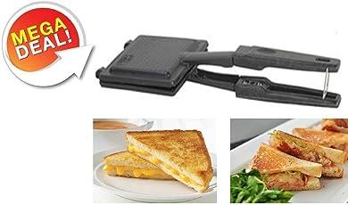 Inspire Non-Electric, Non Stick Coating Snack and Sandwich Gas Toaster/Sandwich Maker (Multicolour)