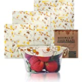 AYOUYA Wachspapier Bienenwachstuch für Lebensmittel, Wiederverwendbar Beeswax Wraps, Reusable Food Wraps, Set mit 3 Stück, Verschiedene Größe
