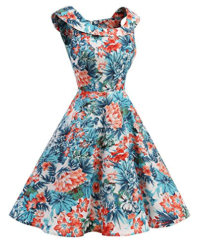 Bbonlinedress 1950er Vintage Retro UAusschnitt Rockabilly Cocktail ...
