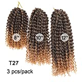 Geflochtenes Haar Locken Afro Mali Twist Twist Braids Synthetische Haare 3Pcs / Pack Haar Borten Kurz Afrikanische Zöpfe,T27
