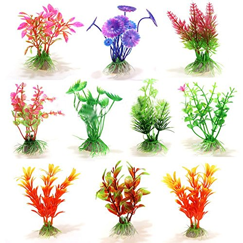 310cm Höhe Künstliche Simulation Pflanzen Umweltfreundlich Kunststoff Aquarium Deko Fish Tank Aquatic Beautiful Wasser Gras Ornament Decor Landschaft Pflanze Zubehör (zufällige Farbe) (Saatgut Musik)