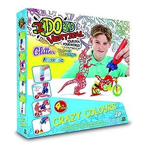 I DO 3D - Vertical Set 4 boligrafos Crazy Colors (Giochi Preziosi D3D19000)