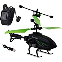 Bloriza Flying Outdoor & Indoor Induction Flight Electronic Radio RC Remote Control Toy Charging Helicopter with 3D…