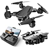 Drone with Camera Live Video,WiFi FPV Drone for Adults with HD 120° Wide Angle Camera 1200 Mah Long Flight time Auto Hover Fo