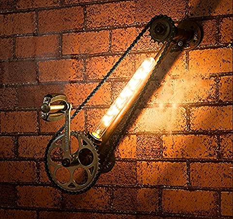 Rusty Farbe Retro Industrielampe Eisen Wandleuchte Kreative Vintage Wandbeleuchtung Passend