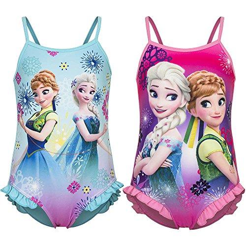 f52a05bac934 Disney Frozen - Costume Intero con Voillant Mare Piscina - Elsa e Anna -  Bambina - Novità Prodotto Originale 2081EQD