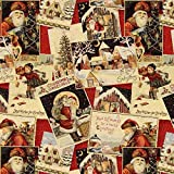 Fabulous Fabrics Gobelin Weihnachten wollweiss —