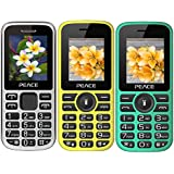 Combo Of 3 Mobiles(P2 Black+P4 Yellow Black+Green Black) With 1 Year Warranty