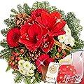Blumenstrauß Wintergeschichte mit Vase & Merci Schokoladen von FloraPrima - Du und dein Garten