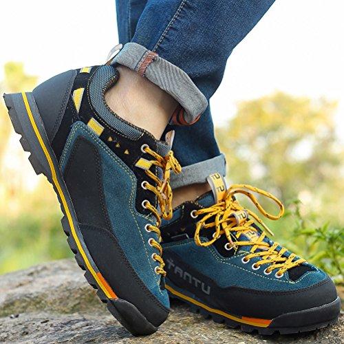 MatchLife Herren Camouflage Wanderschuhe Sports Schuhe Style6-Schwarz