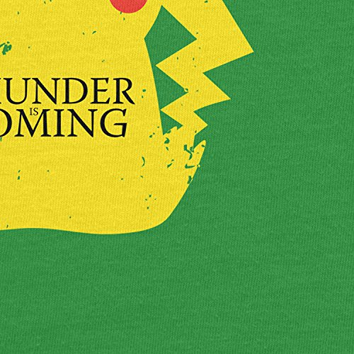 Planet Nerd - Thunder is coming - Damen T-Shirt Grün