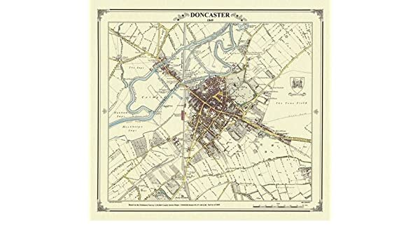 Doncaster 1849 Map (Heritage Cartography Victorian Town Map Series ...