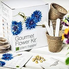 Idea Regalo - Plant Theatre, Set per la coltivazione di 6 tipi di fiori commestibili