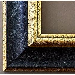Bilderrahmen Acta Schwarz - Gold 6,7 - Über 14000 Größen - 60 x 137 cm - Leerrahmen ohne Glas