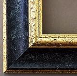 Bilderrahmen Acta Schwarz - Gold 6,7 - Über 14000 Größen - 80 x 120 cm - Leerrahmen ohne Glas