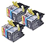 PerfectPrint - 12 Compatible Brother LC-1240/LC-1280 Ink Cartridges