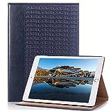 IPad Mini 4 case Bleu, elecfan Livre Style Premium Imperméable Cuir PU Coque pour IPad Mini 4 Tablette Ultra Fine Motif de Crocodile Couverture Etui Housse de Protection avec Document Poche pour Cartes