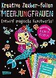 Kreative Zauber-Folien: Meerjungfrauen: Set mit 10 Zaubertafeln, 20 Folien und Anleitungsbuch