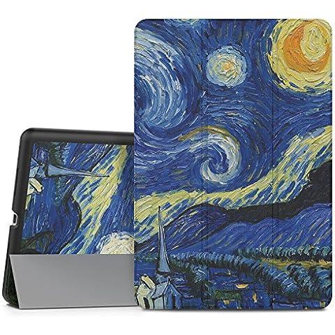 MoKo iPad Pro 9.7 Funda - Ultra Slim Lightweight Función de Soporte Protectora Plegable Smart Cover Durable (Auto Sueño / Estela) para Apple iPad Pro 9.7 Pulgadas 2016 Tableta, Noche Estrellada