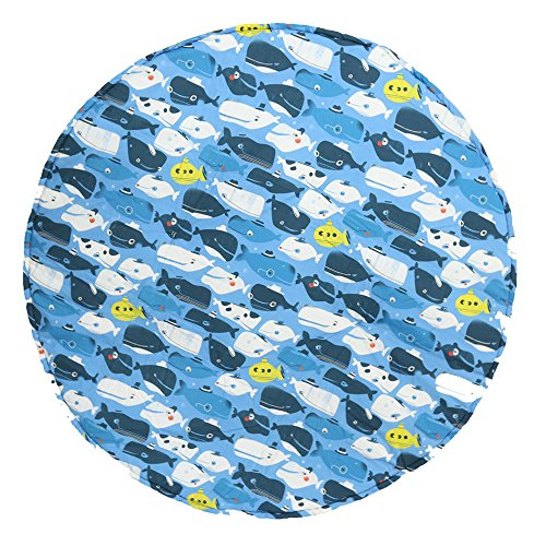 Manta de juegos para bebes XXL grande para gatear acolchada gimnasio suelo actividades alfombra Blue Sea