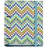 Agatha Ruiz de la Prada 20113–Classeur 4anneaux avec bloc de 25mm, A4, multicolore