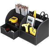 Sumnacon Organisateur de Bureau/ Table , Boîte de Organisateur/ Rangement en PU Cuir avec 7 Compartiments pour Ranger objets