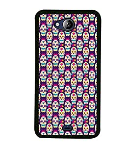 ifasho Designer Phone Back Case Cover Micromax Canvas Play Q355 ( Heart Shape Pattern and Funky Design )