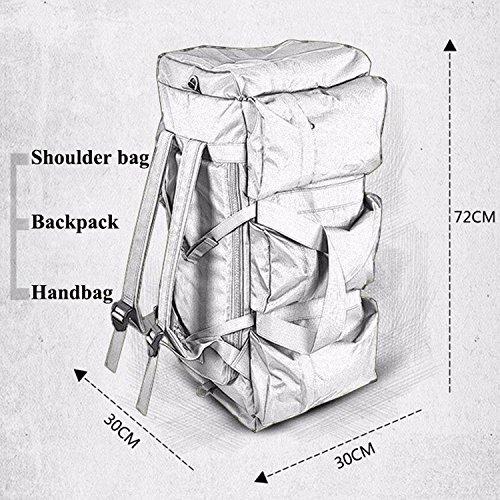 Zaino tattico all'aperto, impermeabile QMFIVE sacchetto di viaggio multifunzionale della borsa di grande capacità e della donna (SMMC) BK
