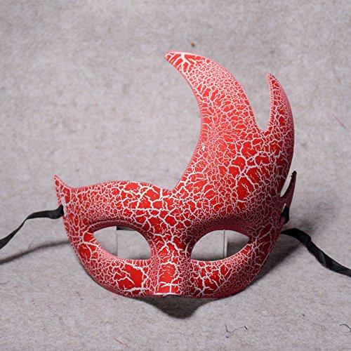 Halloween - Kostüm, Requisiten, Parteien, Halb Gesichter, Meteor Schildkröten, Risse, Parteien, Masken,Pink