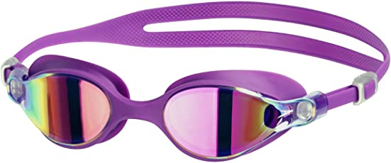 Speedo V-Class Virtue Mirror Swimming Goggles, Adult Free Size (Purple Vibe/Pink)