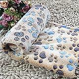 Cuscino morbido morbido caldo dell'animale domestico della copertura del cuscino della coperta del materasso per l'animale domestico del cane del gatto Brown Footprint & S