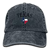 Fashion Home Unisex Adult Texas Lone Star State Washed Denim Cotton Sport Outdoor Baseball Hat Adjustable One Size