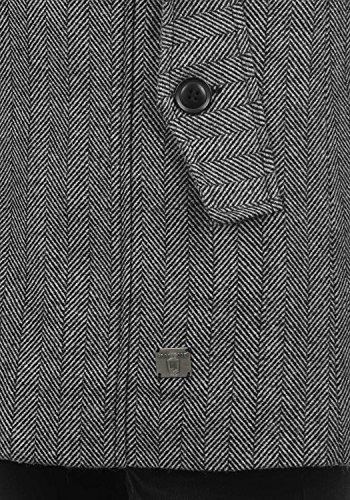 Indicode Brandan Herren Winter Mantel Wollmantel Lange Winterjacke mit Stehkragen, Größe:M, Farbe:Light Grey Mix (913) - 5
