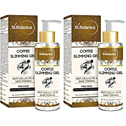 StBotanica 4D Coffee Slimming Cream AntiCellulite & Skin Toning 100ml (With Guarana Oil) x 2 Pack - Stomach, Hips, Thighs, Arms, Body
