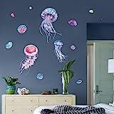decalmile Muurstickers Kwallen Muurtattoo Onder De Zee Oceaan Wanddecoratie Baby Kinderkamer Kinderen Badkamer