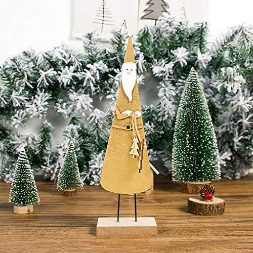 Santa Kostüm Scary - Daygeve Zuhause Party Deko, Anatomische Tracing, Medizinische Lehre, Halloween Dekoration Statue,Weihnachtsschmuck aus Holz Stereoscopic Painted Santa Ornaments Home Decor