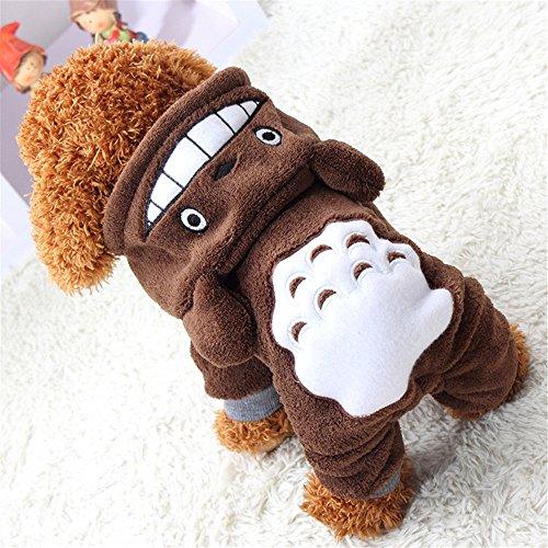 d Katze Jacke, Welpen Winter warme Mantel Kleidung Bekleidung Kostüm Kleidung Pullover (XXL, Brown) (Baby Kostüme Katze)