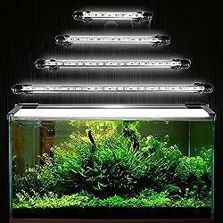 GreenSun 28cm bianco luminosa eccellente dell'acquario striscia luminosa a LED - acquario sottomarino sommergibile principale Lampada Plafoniera Decorativa Acquario Impermeabile