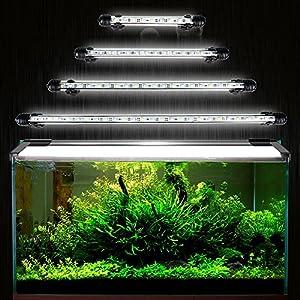 [Gesponsert]GreenSun Aquarium LED Beleuchtung Leuchte Lampe 27 LEDs 5050SMD 48CM Lighting für Fisch Tank EU Stecker weißlicht Wasserdicht