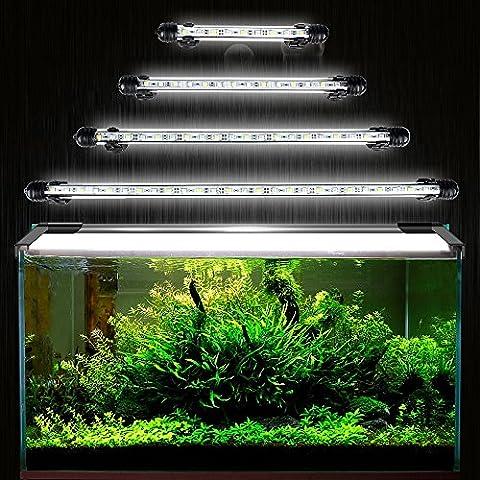 GreenSun 15 éclairage LED de 28cm Réservoir de poisson submersible LED lampe étanche Underwater Moonlight aquarium lumière IP68 blanc prise EU